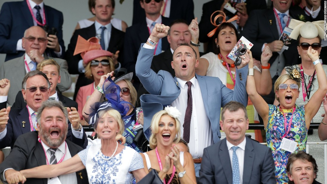 The stakes are significantly raised when you're co-owner of the horse in question -- as seen in the jubilant face of Jamie Lovett (center) when Protectionist won the Melbourne Cup in Australia last year.