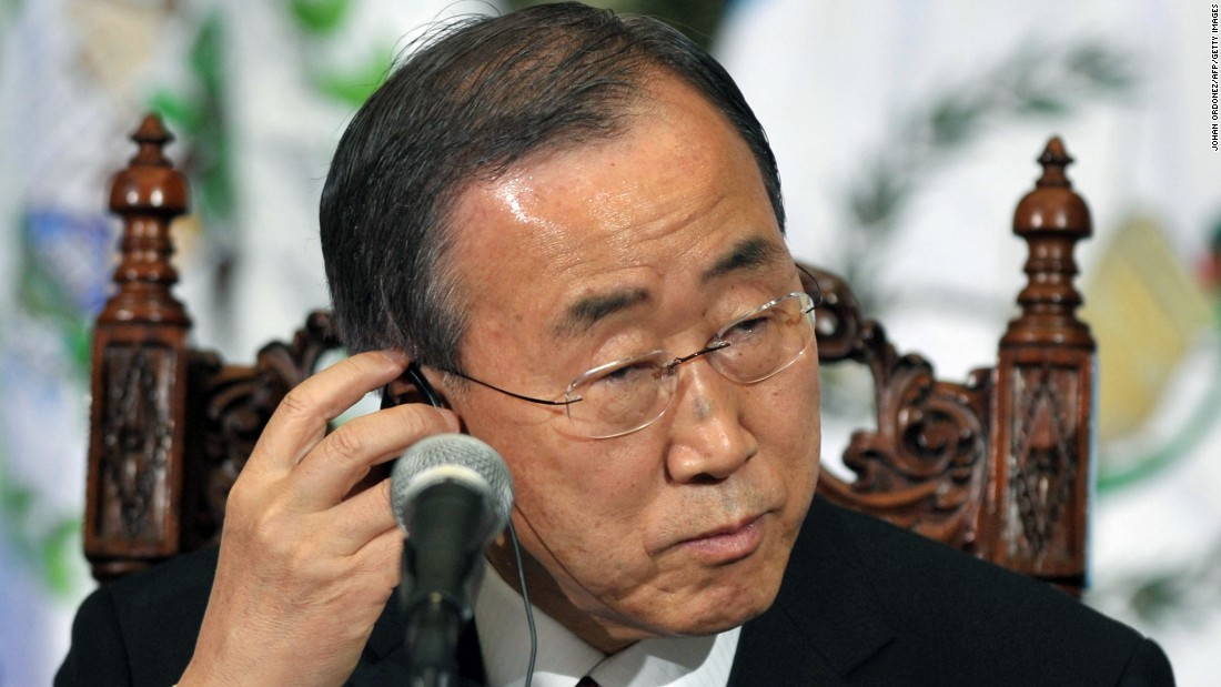 "U.N. Secretary-General Ban Ki-moon went with Stevie Wonder's ""Signed, Sealed, Delivered"" for the playlist."