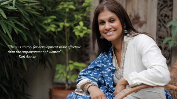 Viji Reddy is a multimedia artist who markets her own brand of linens and products under the brand Aalamwaar.  She works with an Indian NGO to employ rural women to do much of the embroidery work for her products.