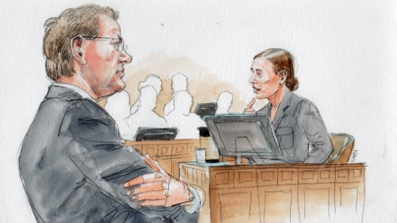 Prosecutor Steve Mellin, left, with Dr. Rene Robinson