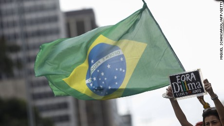 Protesters rally against Brazil's president