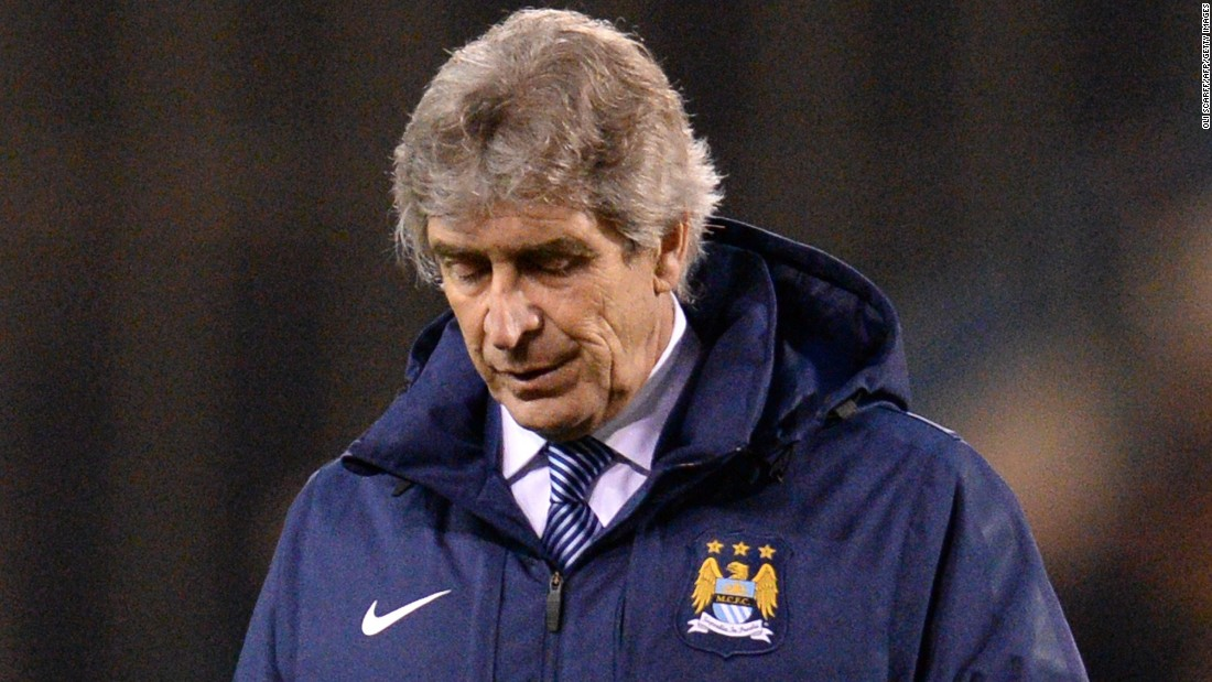 Manuel Pellegrini, the Manchester City manager, is under increasing pressure following his side's recent downturn in form. City was beaten 1-0 by Burnley last weekend and is six points behind leader Chelsea in the title race.