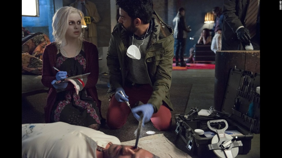 """The Walking Dead,"" this ain't. The CW has adapted another fan favorite comic book series, ""iZombie"" with ""Veronica Mars"" producer Rob Thomas at the helm. Rose McIver (""Once Upon a Time,"" ""Masters of Sex"") stars as a young girl just trying to make it in the world as a zombie, though she's haunted by the deaths of those murdered at the morgue where she works. The series follows the CW's popular ""The Flash"" at 9 p.m. ET Tuesday."