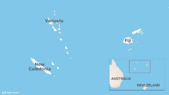 Map: The islands of Vanuatu