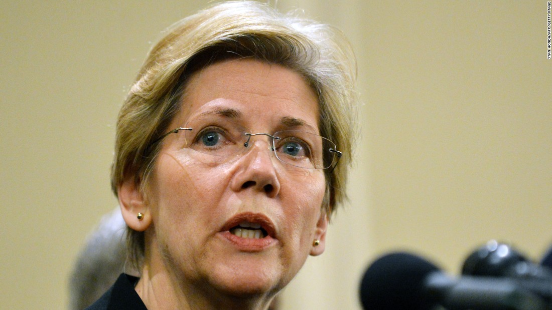 Warren speaks at a press conference on April 16, 2013, in Boston, one day after the Boston Marathon bombing.