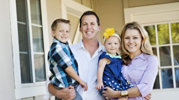 Hillary and Jeff Whittington and their children Ryland, left, and Brynley.
