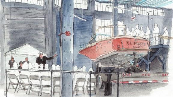 Jurors were taken to see the boat where Dzhokhar Tsarnaev holed up.