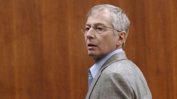Murder defendant Robert Durst looks to the gallery after a pretrial hearing on a motion to postpone opening arguments of his case in Galveston, Texas, Monday, Sept. 22,  2003.