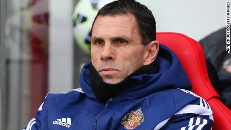 Uruguayan Gus Poyet has been sacked as manager by Sunderland after a poor run of results.