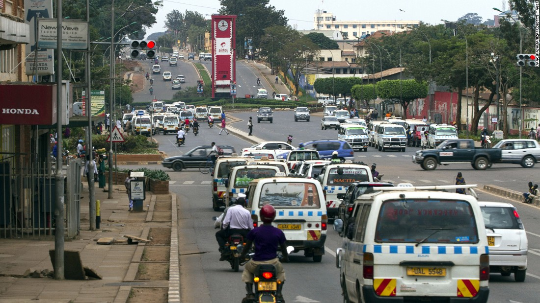 Uganda's capital city of Kampala. The country is ranked 34th globally and just shy of the top three in the continent.<br />