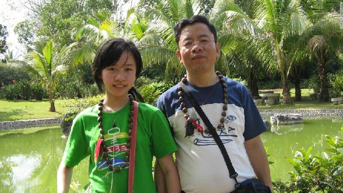 "Shao Tong with her father on a trip to Southeast China's Yunnan Province. The killing has devastated him: ""I can't stop thinking about this whole thing.""<br />"