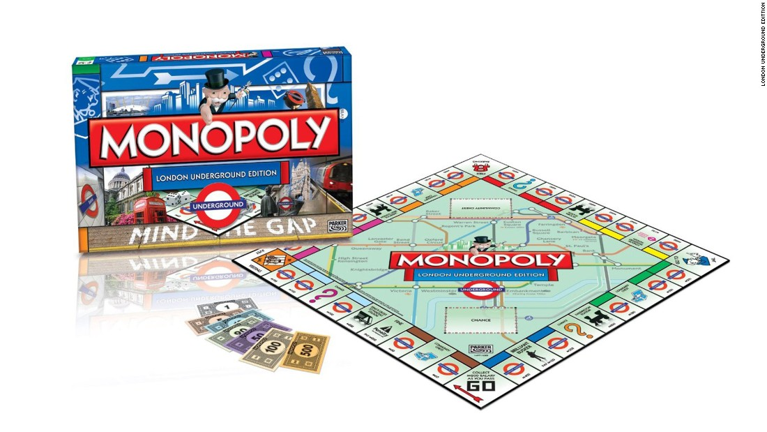 City versions of Monopoly have been commonplace for decades, but in recent years there have been subtleties. For example, this edition is devoted not just to London but to the London Underground. Covent Garden station, incidentally, is the Boardwalk equivalent.
