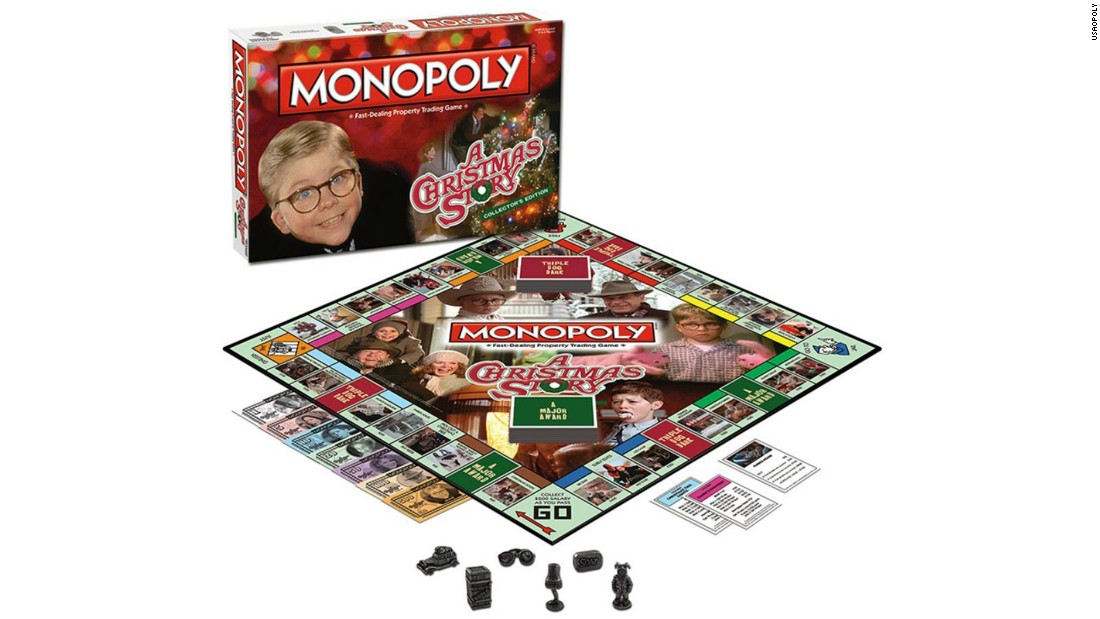"In the Monopoly version of ""A Christmas Story,"" ""A Major Award"" and ""Triple Dog Dare"" take the place of Chance and Community Chest. Boardwalk? That's a BB Gun, of course. (Don't shoot your eye out.)"