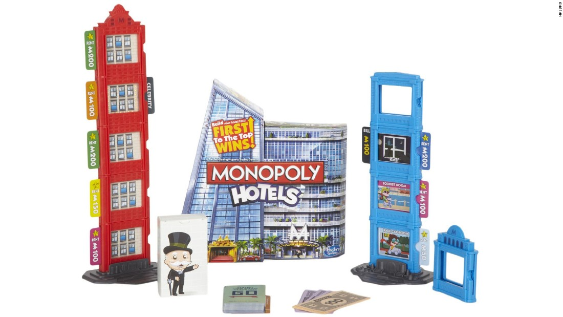 Then there's Monopoly Hotels, in which the most two-dimensional game rises into the sky -- with rents to match. It's just like playing New York.