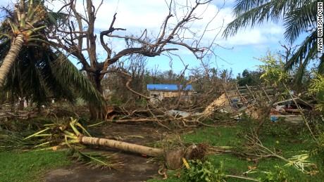 Cyclone Pam's 155 mph winds snapped trees in half. The Vanuatu government estimates 70% of the population was displaced by the storm.