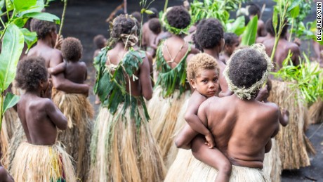 Yakel villagers dance, chant and march in village square, Tanna Island, this past November.