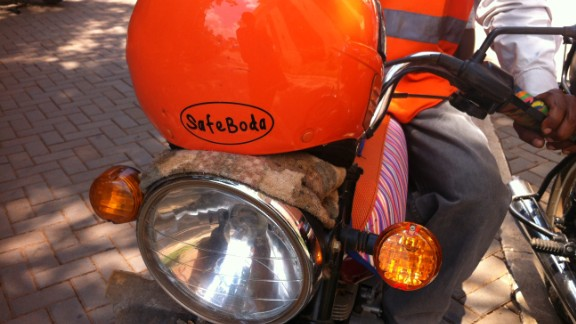 Helmets are worn by all drivers and provided to all passengers to reduce the rates of head injury associated with boda boda accidents.