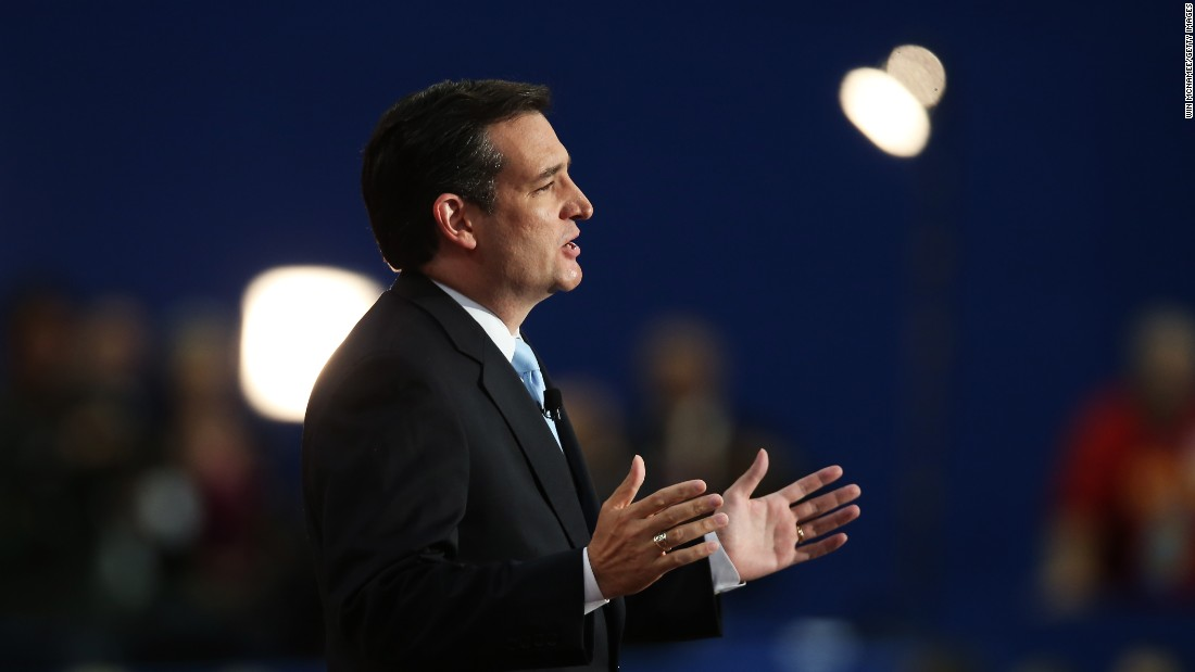 Then-Senate Republican Candidate and Texas Solicitor General Cruz speaks during the Republican National Convention at the Tampa Bay Times Forum on August 28, 2012.