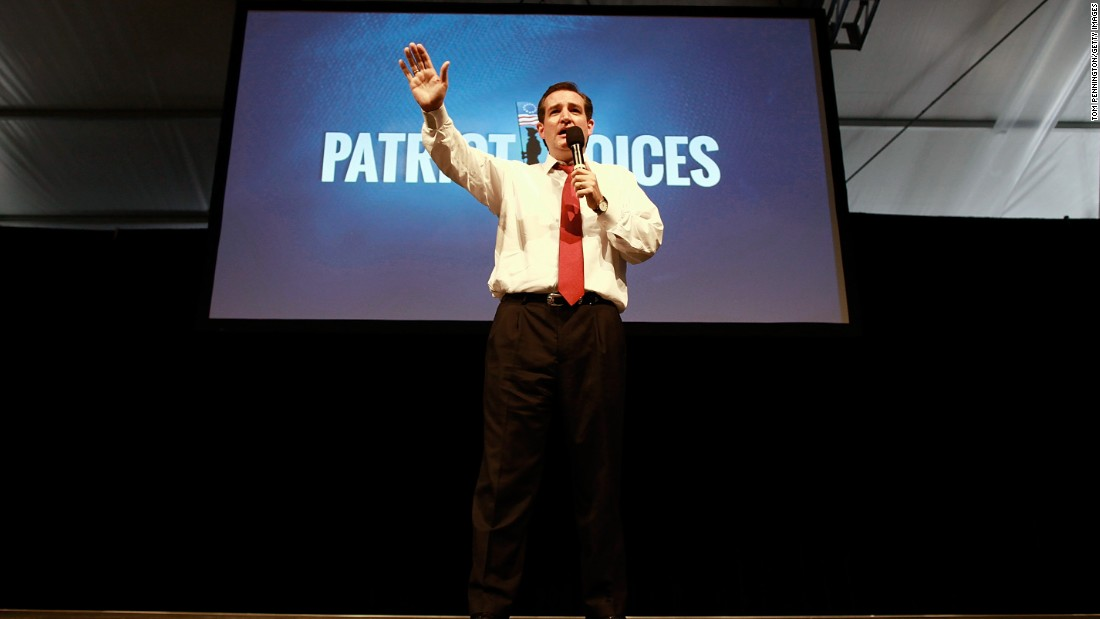 Then-Senate Republican Candidate and Texas Solicitor General Cruz speaks at the 'Patriots for Romney-Ryan Reception' on August 29, 2012, in Tampa, Florida.