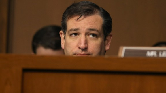 Cruz listens to testimony during a Senate Judiciary Committee hearing on April 22, 2013, in Washington, D.C.
