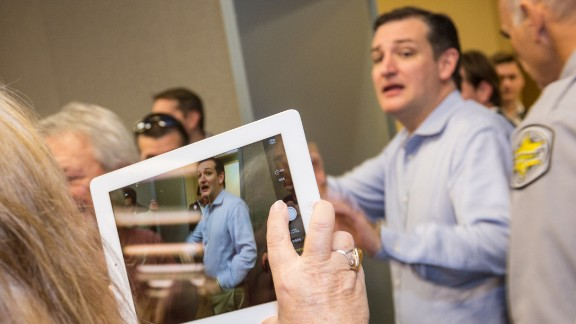 Cruz greets supporters at the South Carolina Tea Party Coalition convention on January 18, 2015, in Myrtle Beach, South Carolina. A variety of conservative presidential hopefuls spoke at the gathering on the second day of a three-day event.