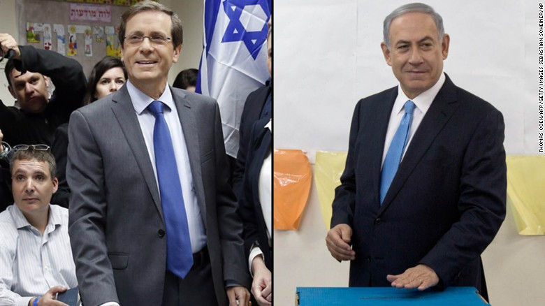 Israeli TV exit polls: Netanyahu, Herzog in dead heat