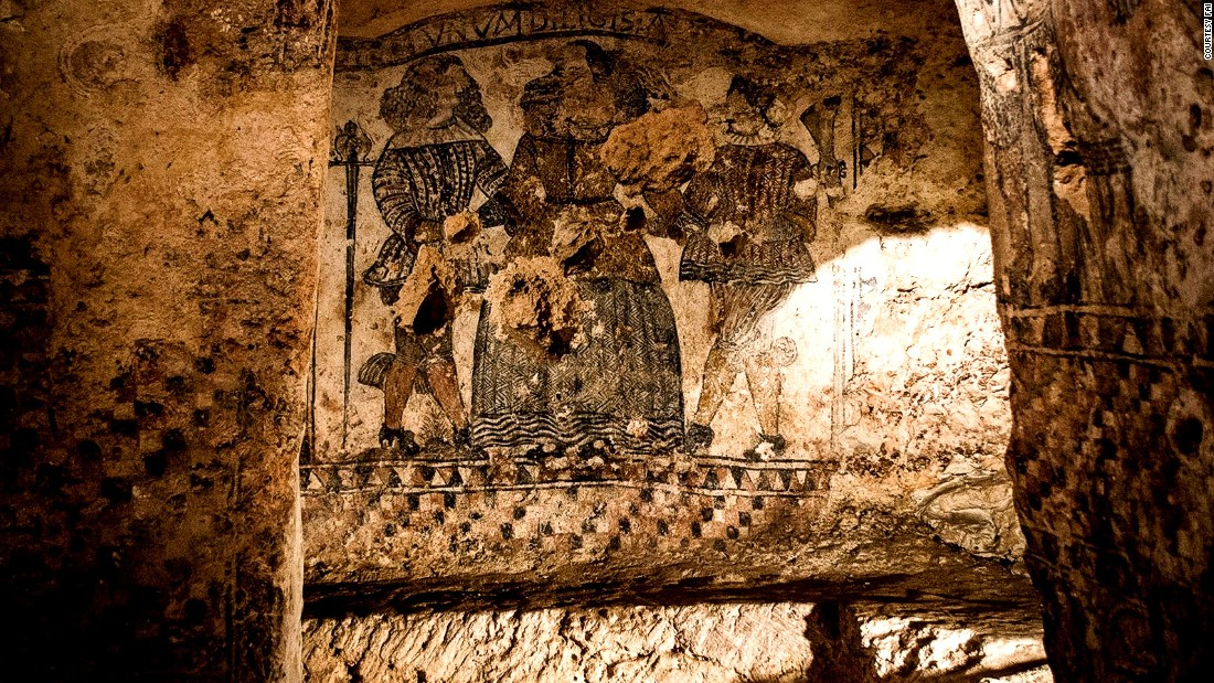 In 1665 a Spanish nobleman turned this former rock crypt it into a winery. The basins were used to collect must and squeeze grapes. <br />Secret lovers and Freemasons also used this as a meeting place. The walls are painted in black with sacred and profane scenes and there are spooky carved masks. <em><br />Via Crispi, Laterza, Taranto</em>