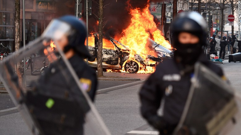 Anti-austerity protesters riot in Germany