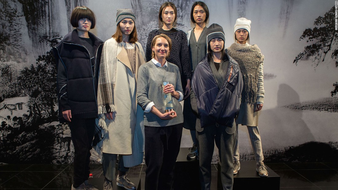 American designer Marcia Patmos (center) has won this year's International Woolmark Prize for innovative use of wool textiles. She takes home $100,000 AUD ($76,500), and will have the opportunity to be stocked in top luxury retailers around the world.