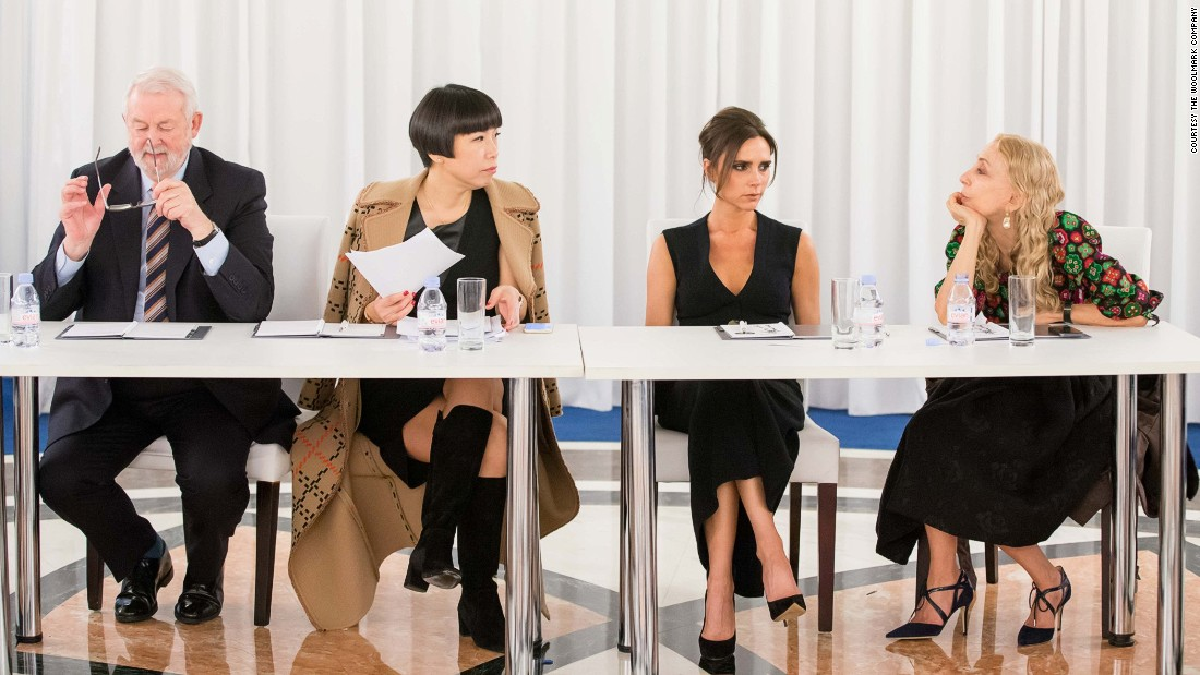 The judging panel included fashion writer Colin McDowell, Vogue China editor Angelica Cheung, Victoria Beckham, and Vogue Italia editor Franca Sozzani.
