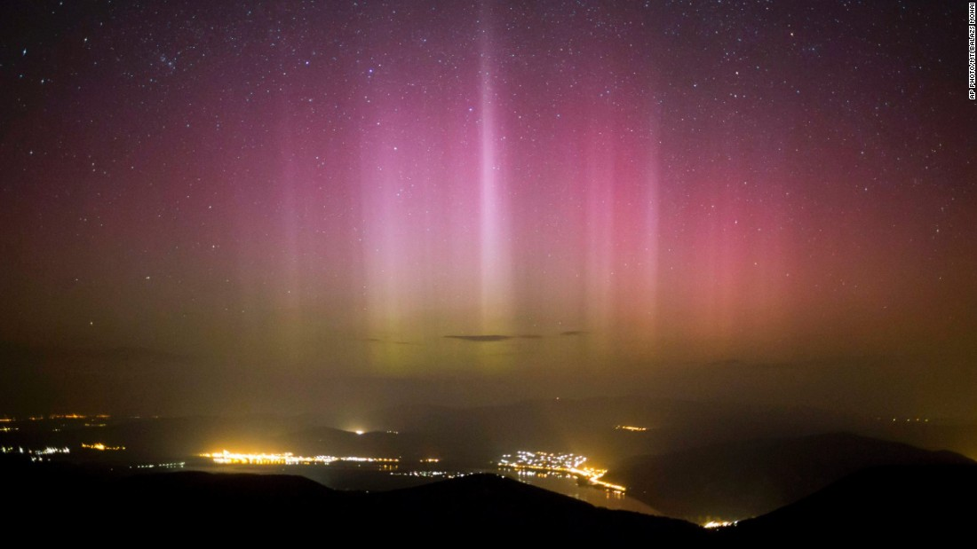 "MARCH 18 - PILISSZENTKERESZT, HUNGARY: The<a href=""http://cnn.com/2015/03/18/travel/fear-solar-storm-2015/index.html""> Northern Lights (Aurora Borealis)</a> are seen above Dobogoko in the town of Salgotarjan. The best places to spot auroral displays are <a href=""http://www.northernlightscentre.ca/northernlights.html"" target=""_blank"">over the southern tip of Greenland and Iceland, </a>the northern coast of Norway and over the coastal waters north of Siberia."