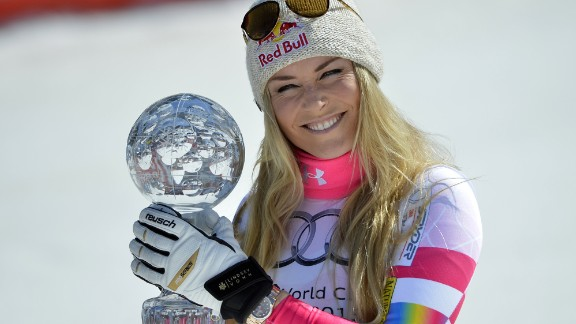 Vonn  took Olympic downhill gold and super-G bronze at the Vancouver 2010 Games but was forced to miss Sochi through injury.