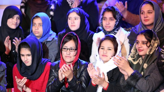 """Women in the audience of the show """"Afghan Star."""""""