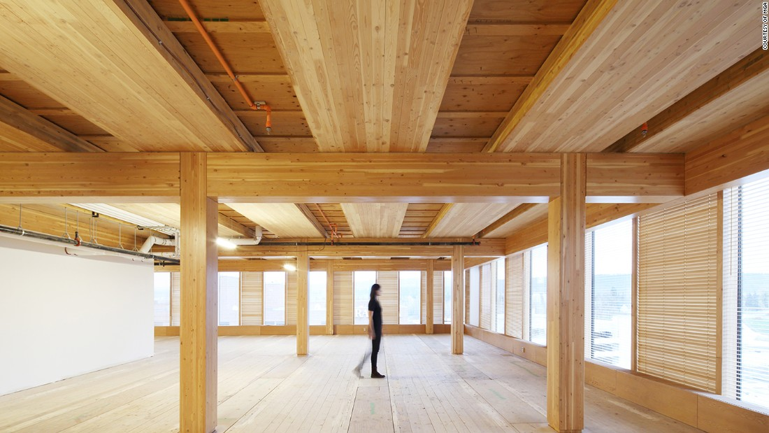 Green says new engineered woods allow for greater strength and heights in buildings.