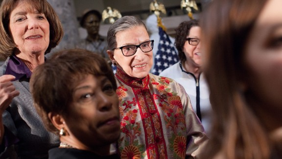 """Supreme Court Justice Ruth Bader Ginsburg, seen here at an annual Women's History Month event at the US Capitol a few years ago, said this when she was asked how she would amend the Constitution: """"If I could choose an amendment to add to this Constitution, it would be the Equal Rights Amendment."""""""