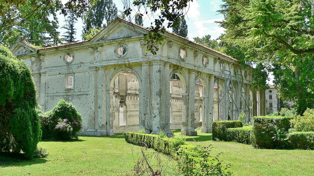 "Ezra Pound and Ernest Hemingway were frequent guests at this Baroque Venetian-style villa. <br />A popular cultural spot in the 1900s, the villa was bombed during World War II. <br />What's left today are two stunning decadent barns covered in vegetation.<br />Hemingway's account of the villa's ambiance can be read in his weary romance novel  ""Across the River and into the Trees.""<br /><em>San Michele al Tagliamento, Venice</em><br />"