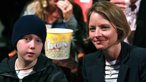 """Actress Jodie Foster, right, has two sons with ex Cydney Bernard. Son Christopher """"Kit"""" Foster is shown here in 2011."""