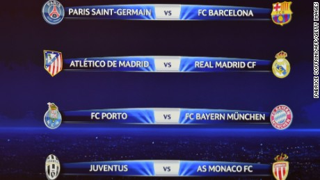 Uefa Champions League Quarterfinal Draw Cnn