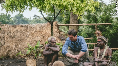 Bill Weir with Magaw, chief of the Yakel tribe, on Vanuatu's Tanna.
