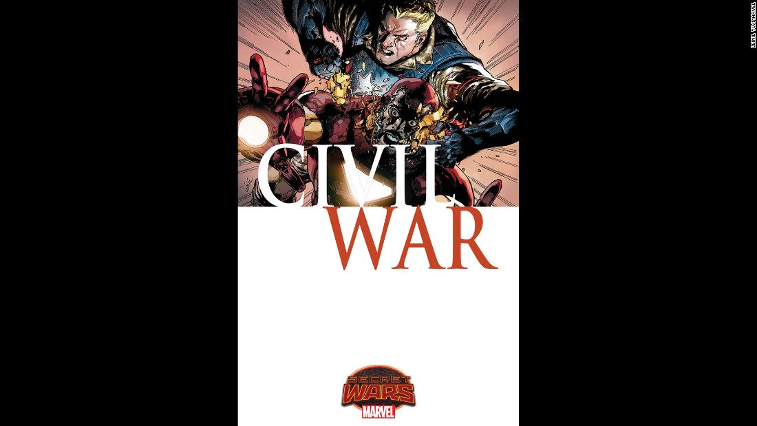 "Marvel is revisiting its 2006-2007 storyline, ""Civil War."" As you can see in this exclusive art, there are even covers reminiscent of those in the original series."