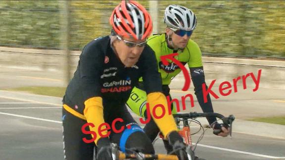john kerry bike ride