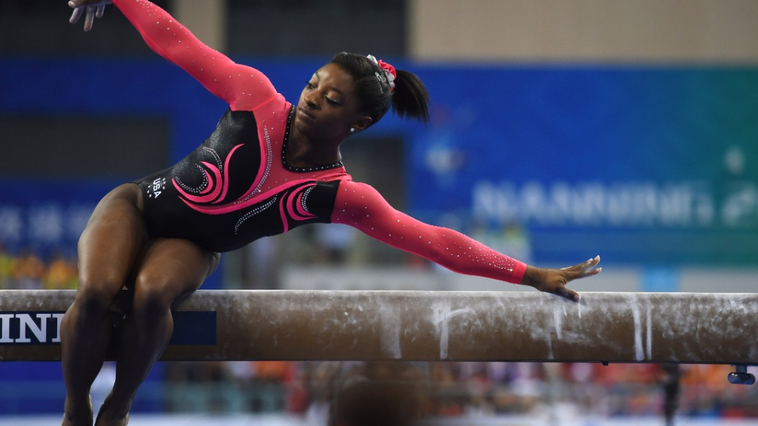 Teenage world champion gymnast Simone Biles is another American forecast to reach the podium, picking up 'multiple medals' in artistic gymnastics.