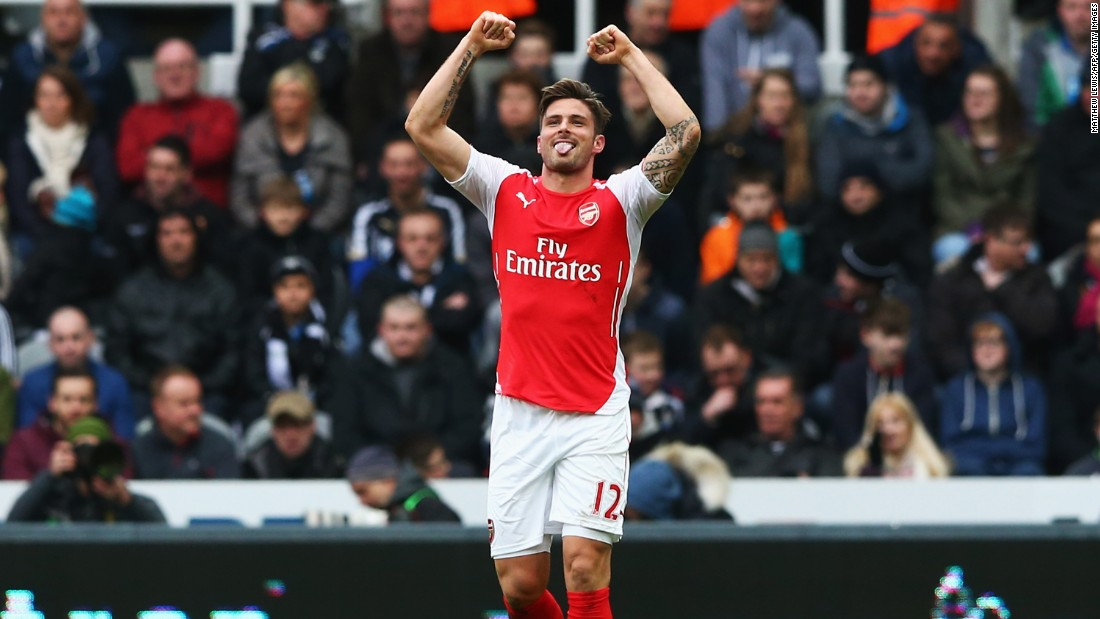 Elsewhere in England on Saturday, Olivier Giroud continued his impressive run of form. The Frenchman scored twice as Arsenal overcame Newcastle United 2-1.