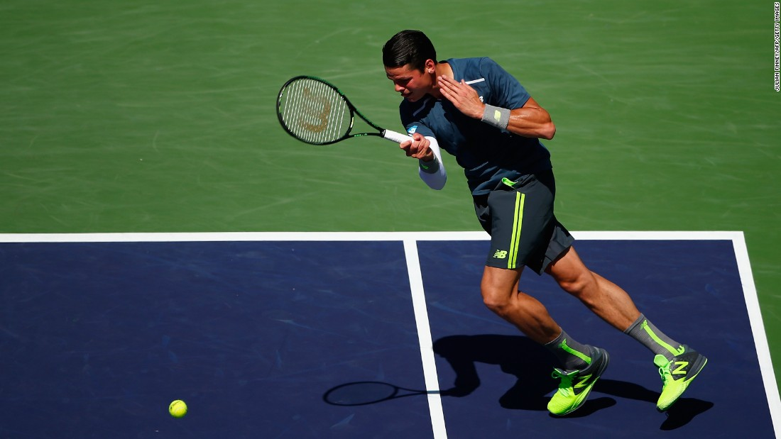The Swiss overcame Canada's Milos Raonic 7-5 6-4 in Saturday's other semifinal.