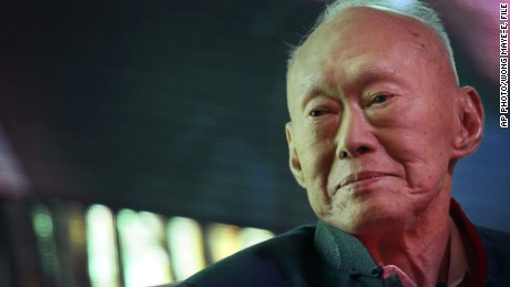 In this March 20, 2013, file photo, Singapore's first Prime Minister Lee Kuan Yew attends the Standard Chartered Singapore Forum in Singapore. The condition of Singapore's 91-year-old founding father, Lee Kuan Yew, has deteriorated further at the hospital where he's been treated for about six weeks, the government said Wednesday, March 18, 2015.