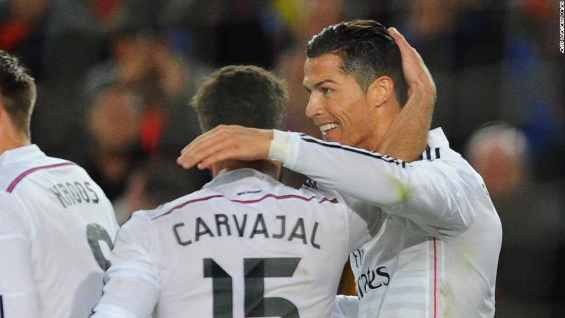 Ronaldo was scoring his seventh goal in eight games in the Nou Camp.