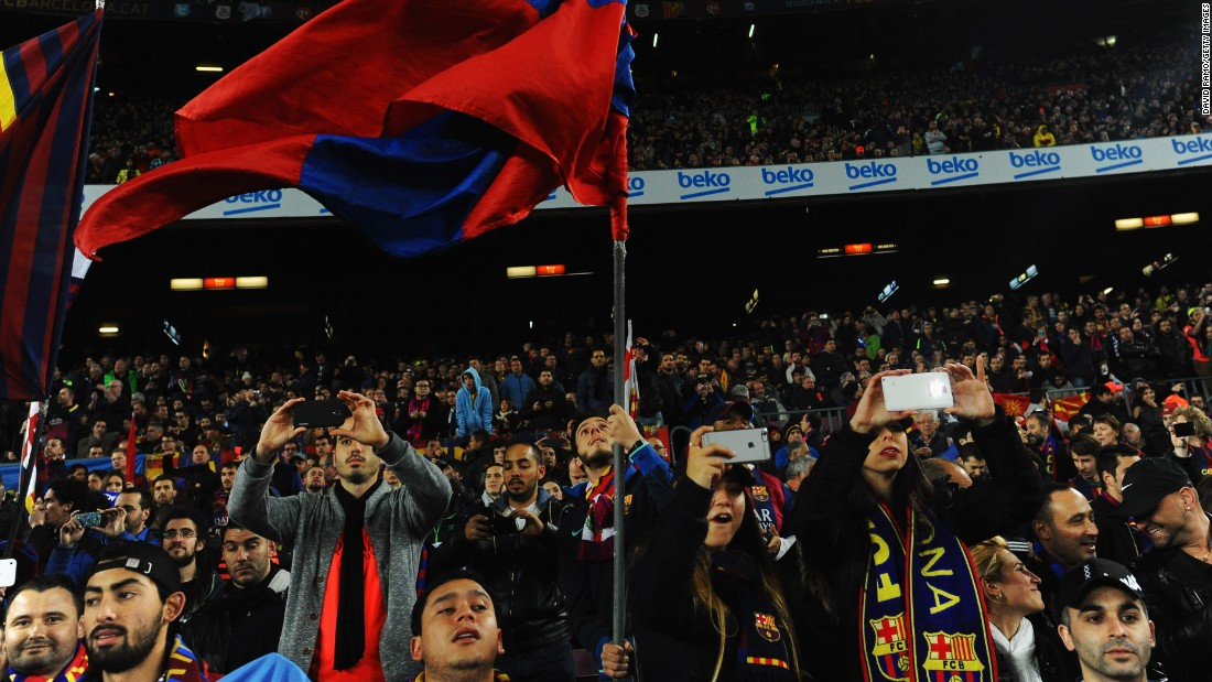 The Nou Camp was packed to near 100,000 capacity for El Clasico.