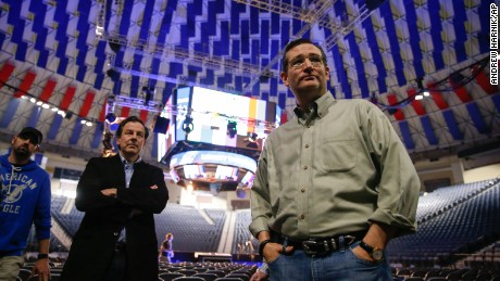 Sen. Ted Cruz, R-Texas, arrives for a walk-through for his Monday morning speech where he will launch his campaign for president of the United States at Liberty University on Sunday, March 22, 2015 in Lynchburg, Va. Cruz will be the first major candidate in the 2016 race for president. (AP Photo/Andrew Harnik)