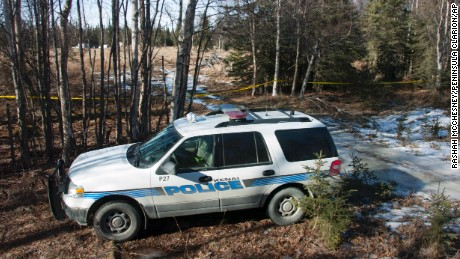 Investigators set up a temporary facility Sunday after finding the remains.