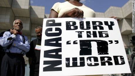 A mock funeral to symbolically bury the 'N-word' was held at the NAACP National Convention in 2007 in Detroit. It was part of the NAACP 'STOP' campaign which aimed to eliminate the negative portrayal of African Americans in the media.